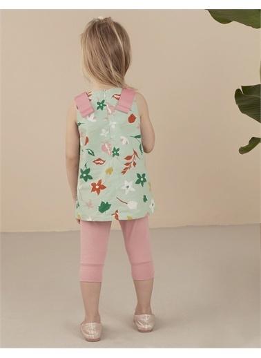 Ollie & olla Çiçek Desenli Kız Tunik Yeşil